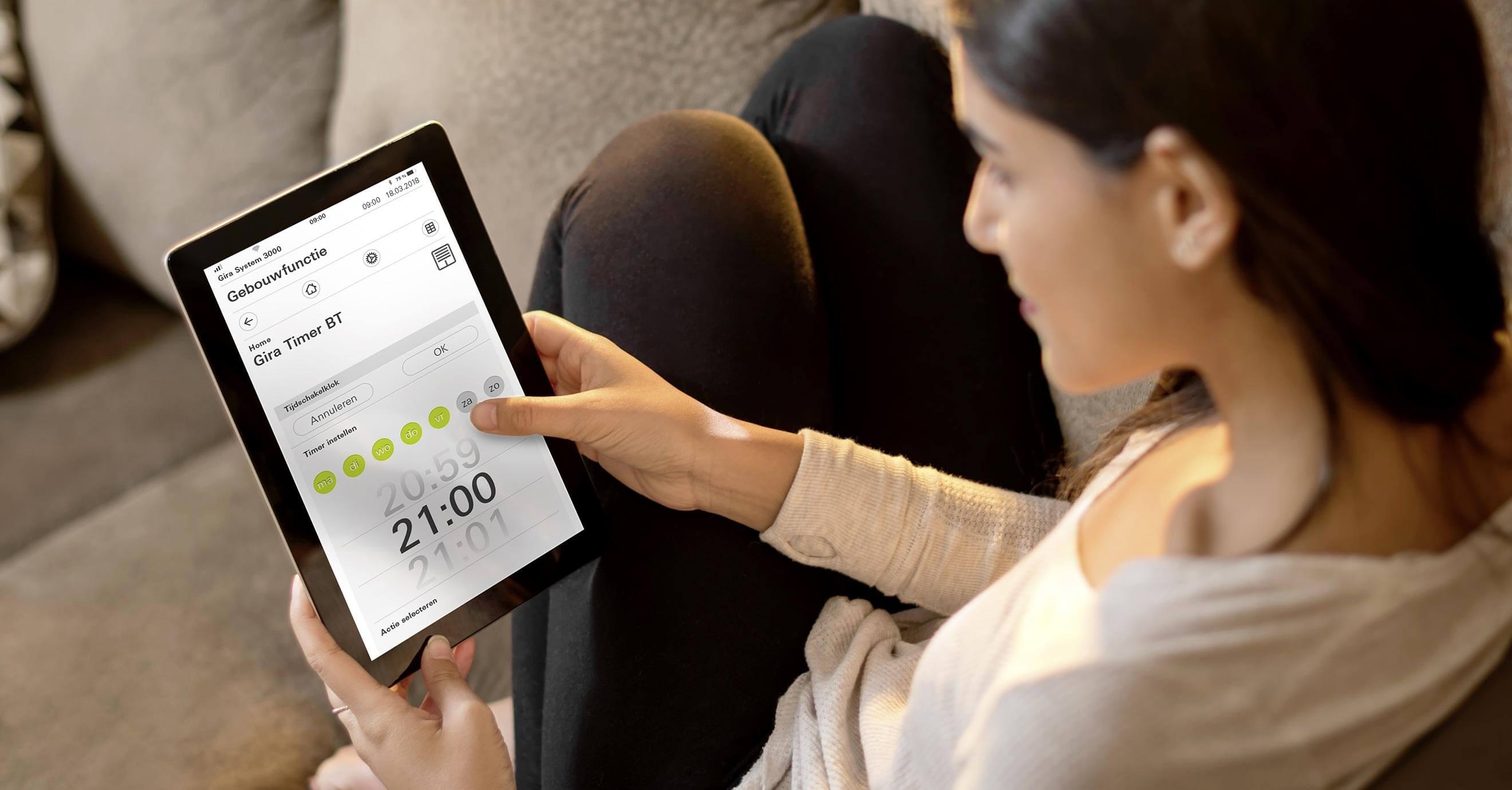 Doman comfort - flexibel gebouwfuncties aanpassen via de tablet