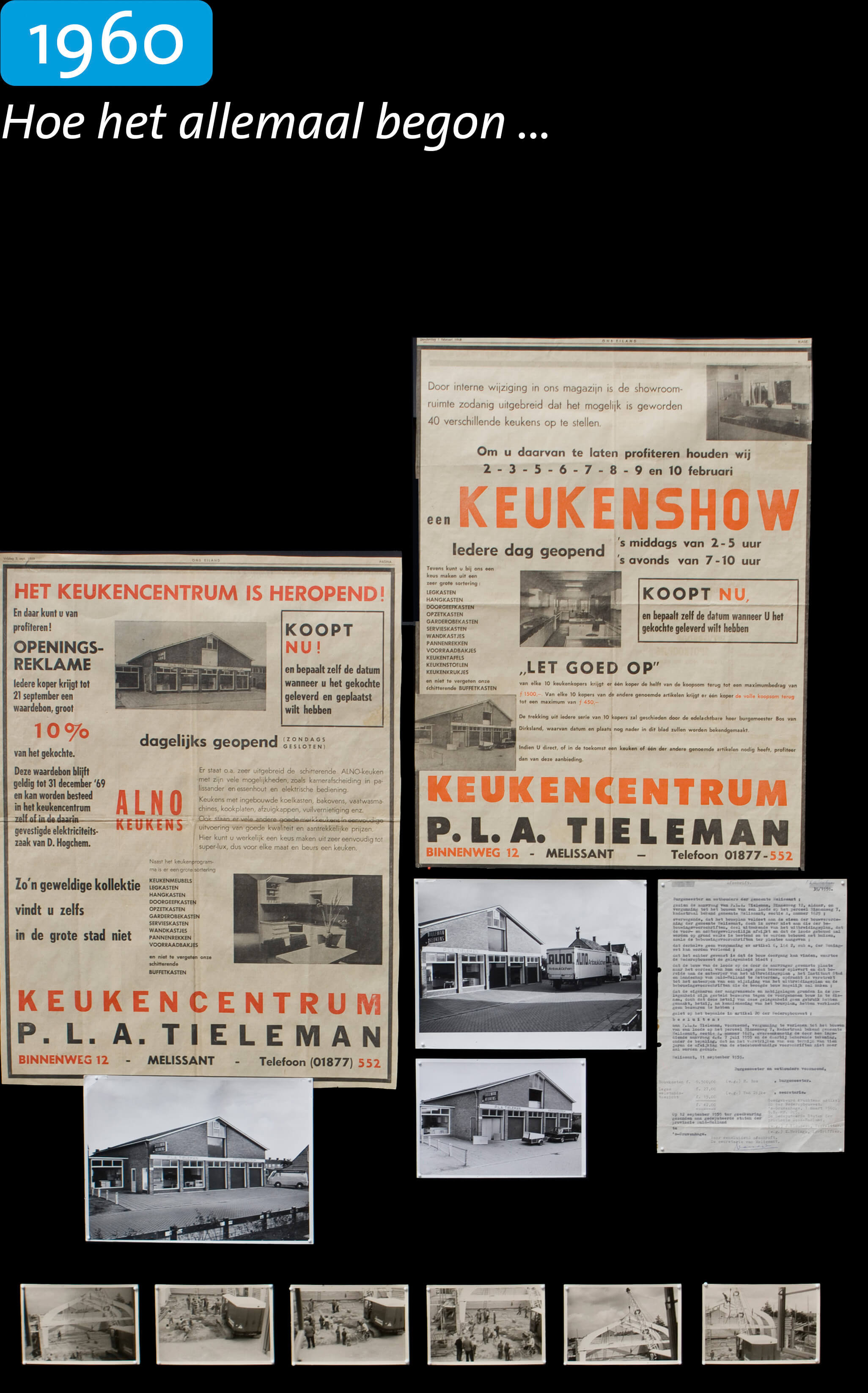 Geschiedenis Tieleman Keukens 1960