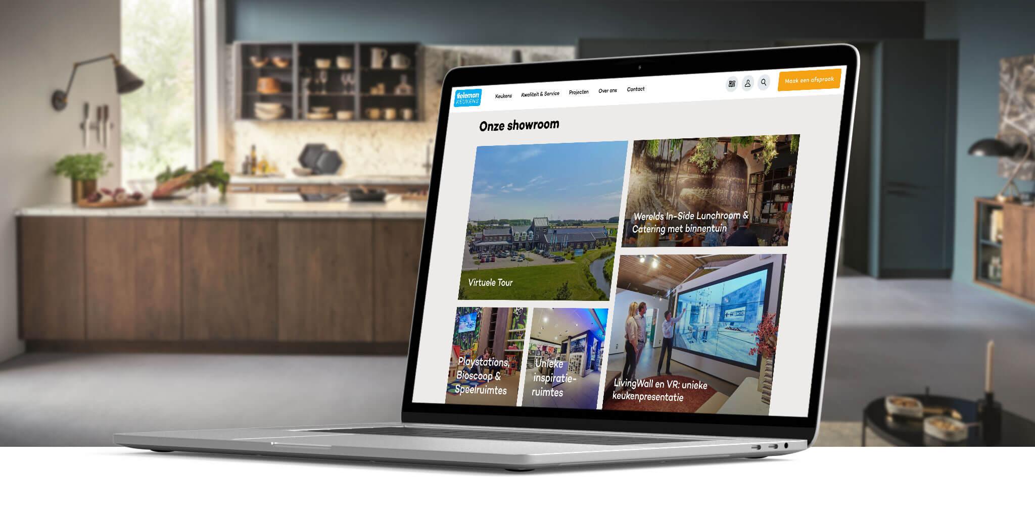 Vernieuwd website Tieleman Keukens