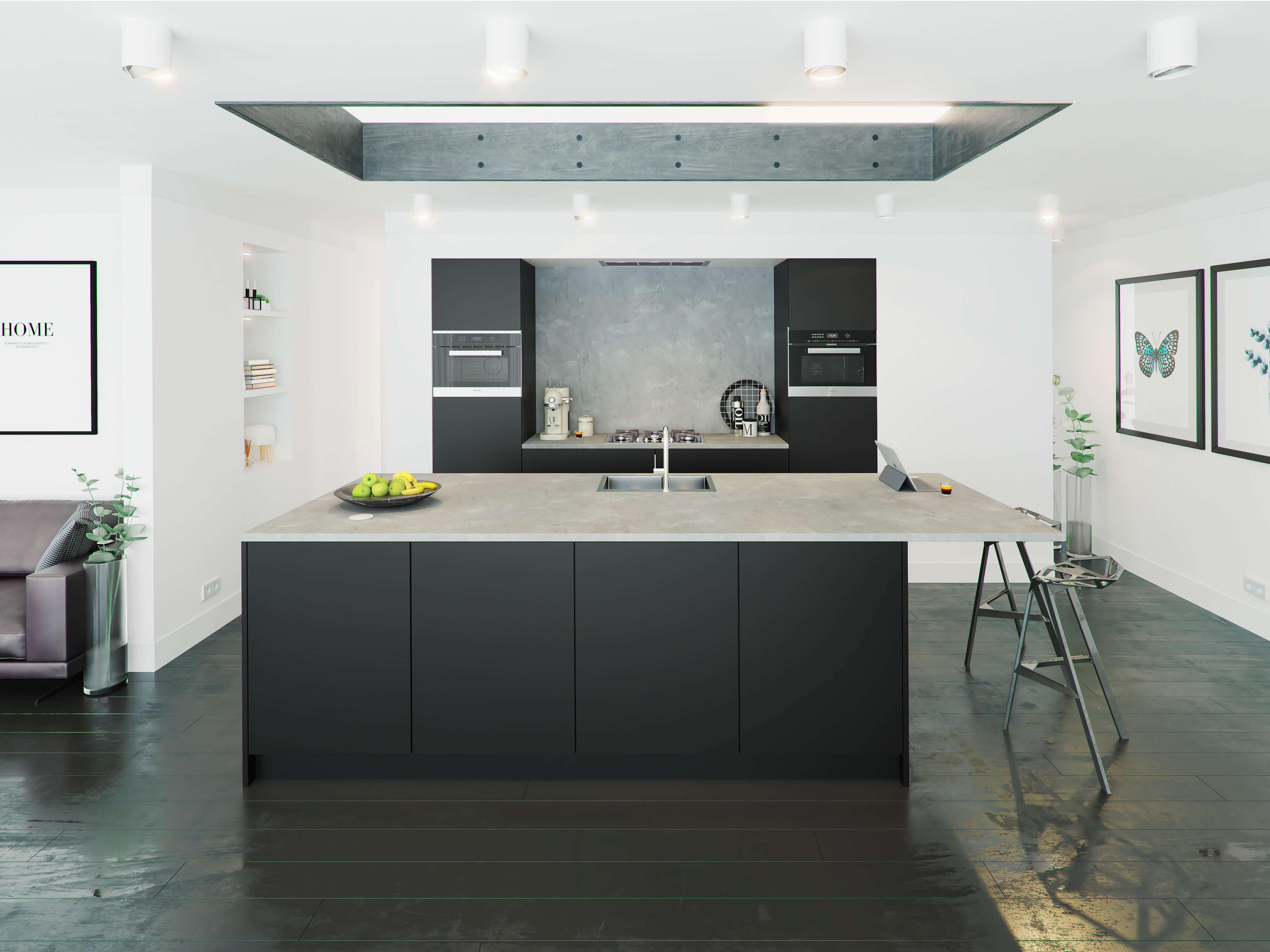 Zwartwitkeuken van Tieleman Keukens