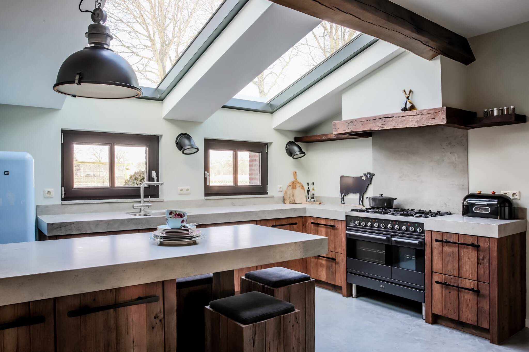 Houten keukenblok
