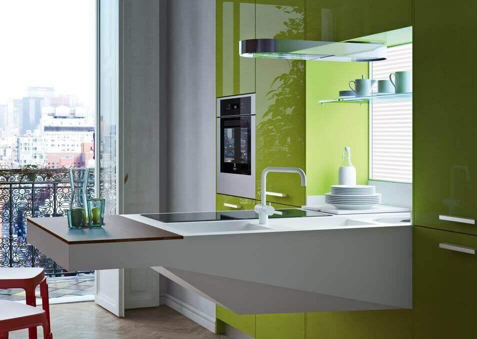 Groene keukens Tieleman Keukens