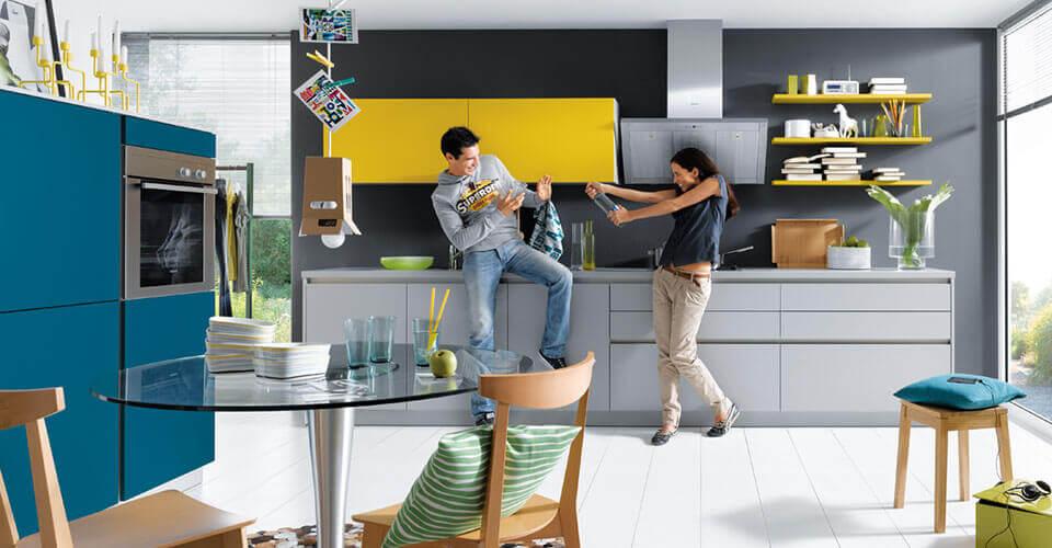 Gele keukens van Tieleman Keukens