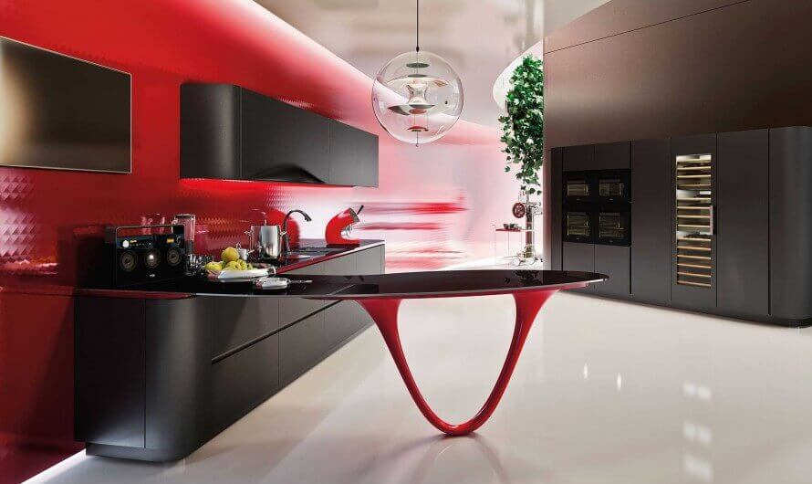 Rode keukens van Tieleman Keukens