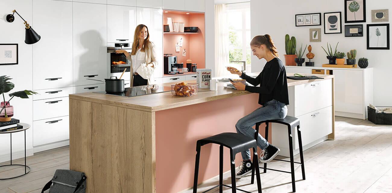 Roze keukens
