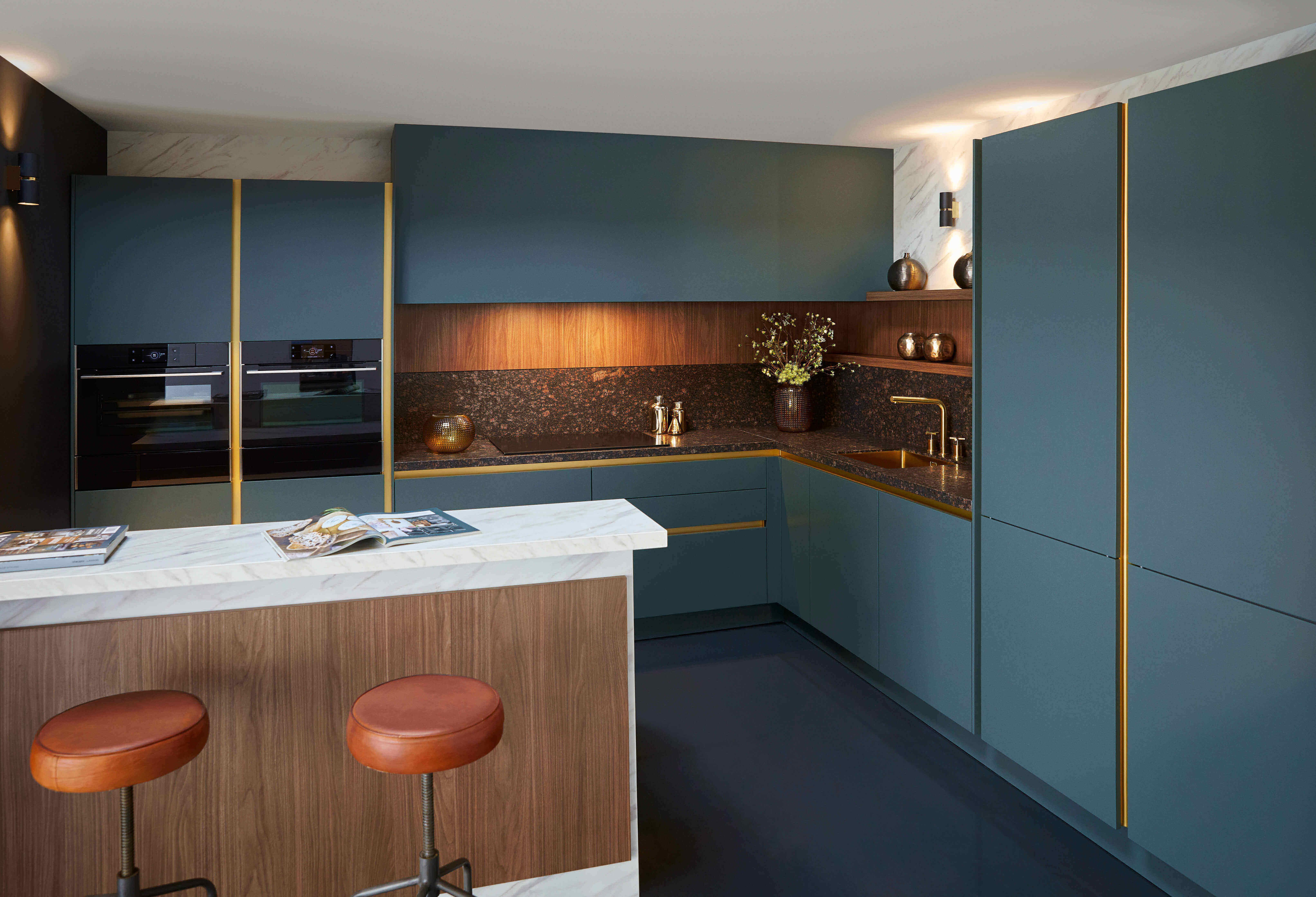 natuursteen spatscherm keuken