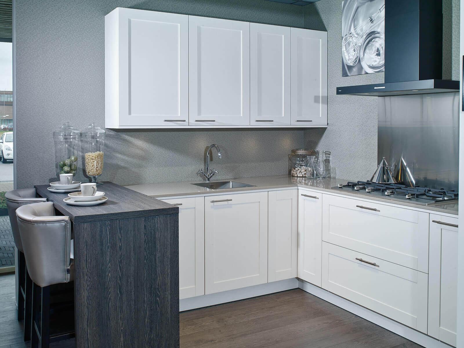 RVS spatscherm in de keuken