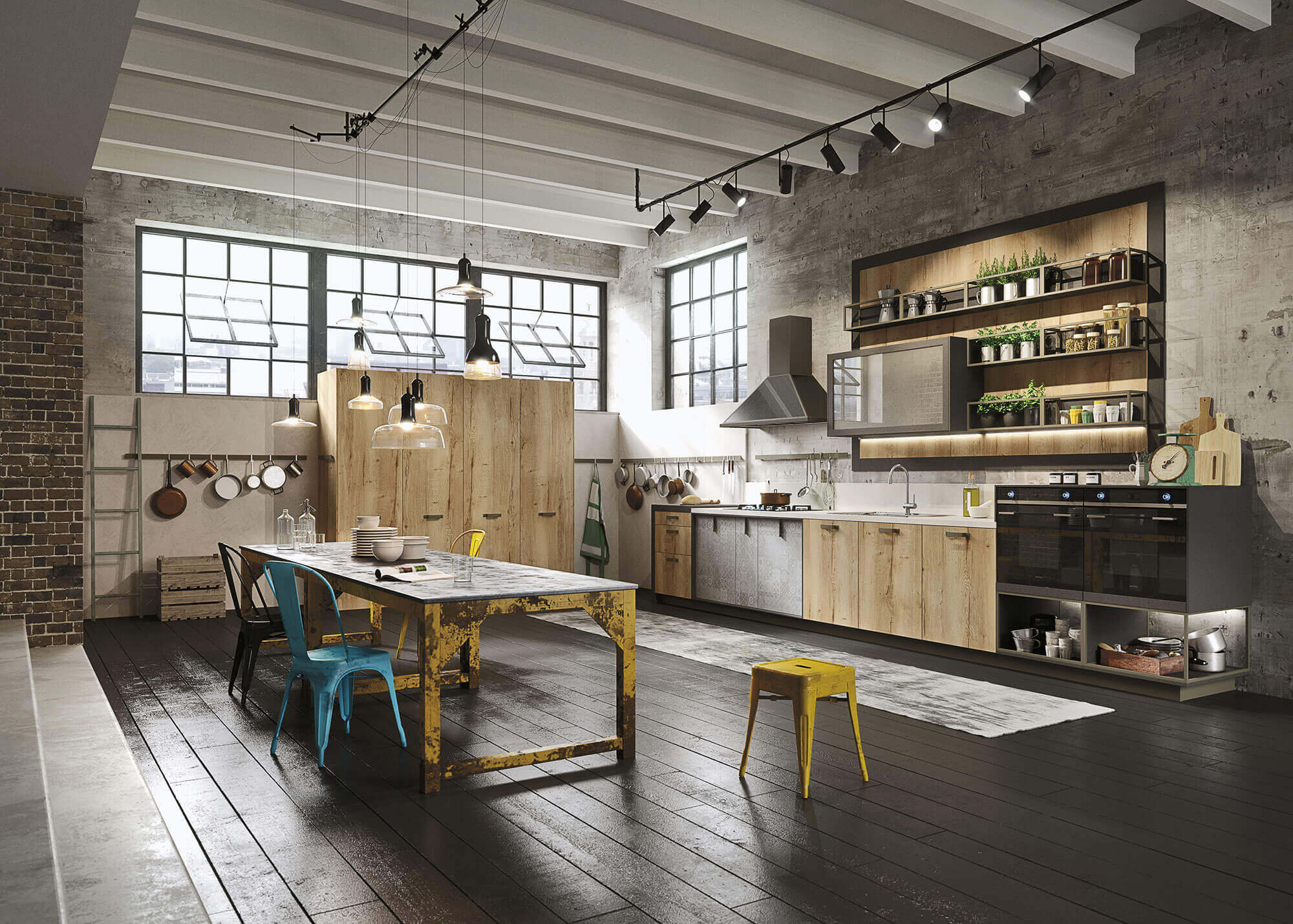 Hippe keuken voor lofts