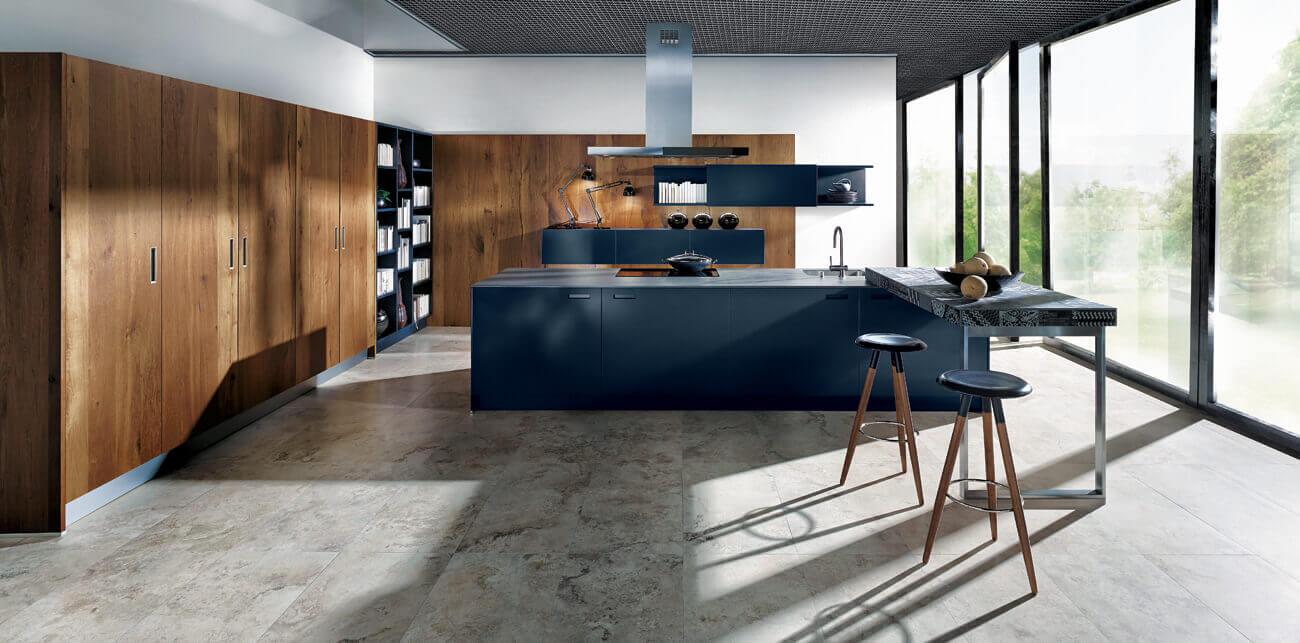 Luxe blauwe keukens van Tieleman Keukens