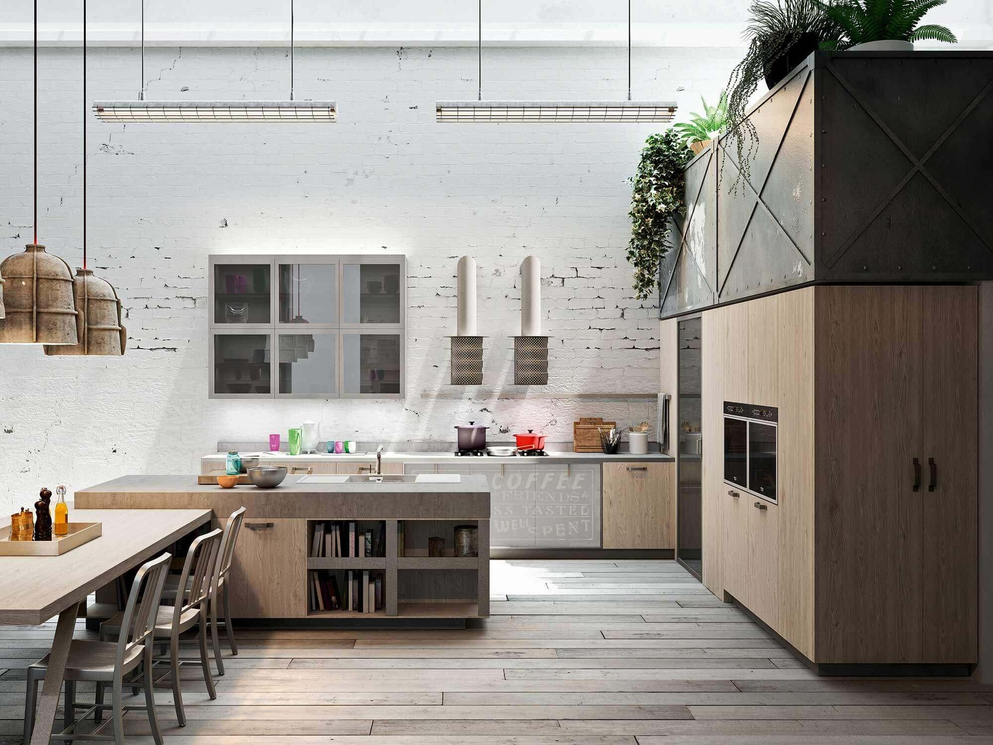 Keuken met industriële tinten