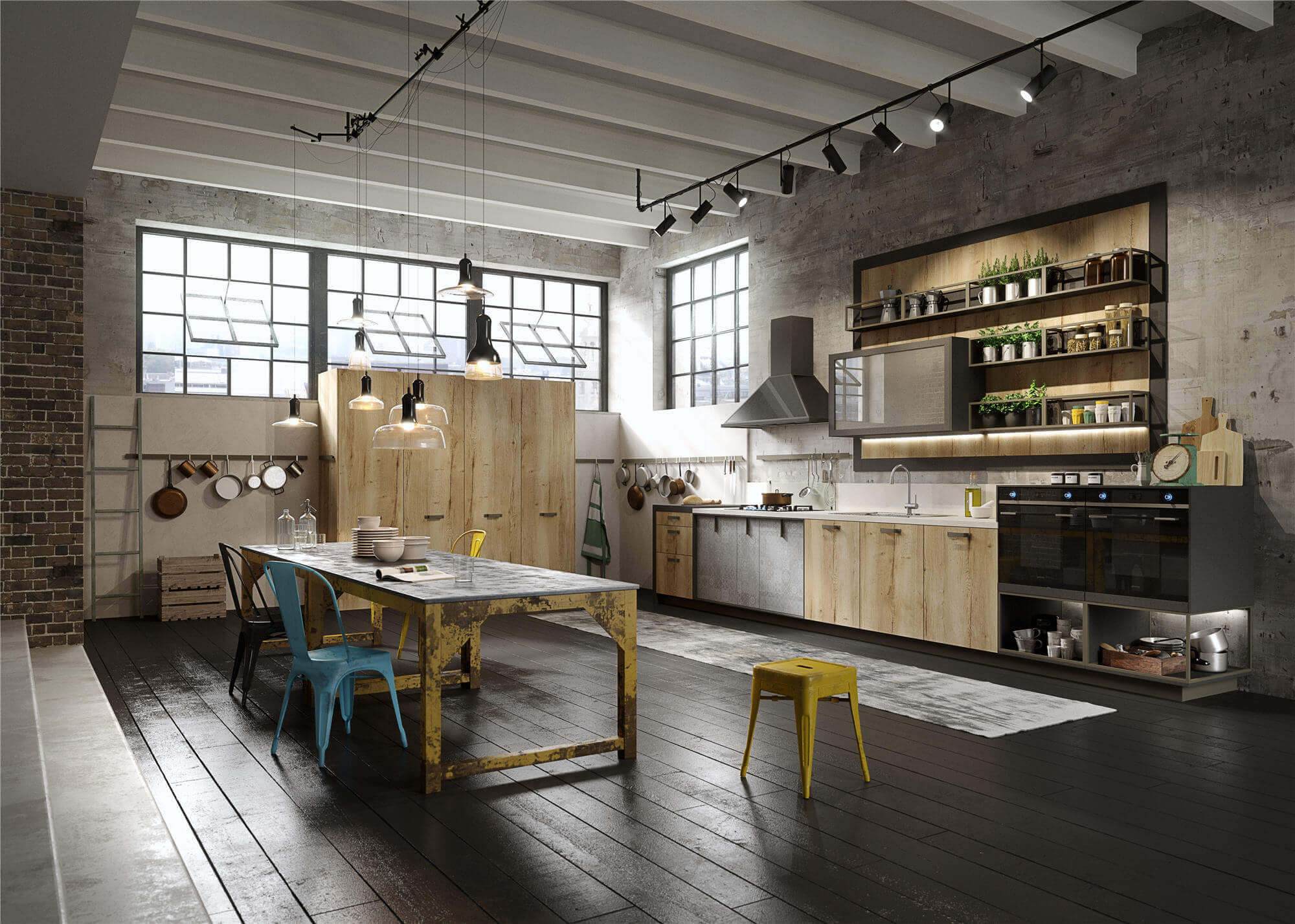 Open industriële keuken