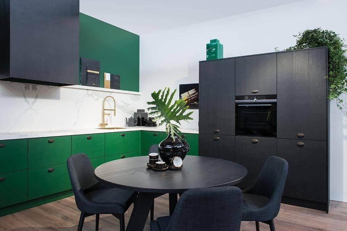 Groene keukens van  Tieleman Keukens
