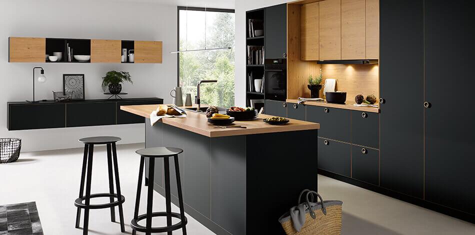 Zwarte keukens van Tieleman Keukens