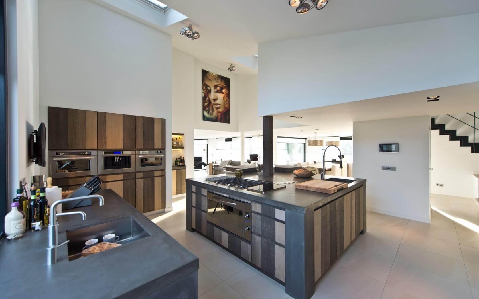 Houten handgemaakte keukens
