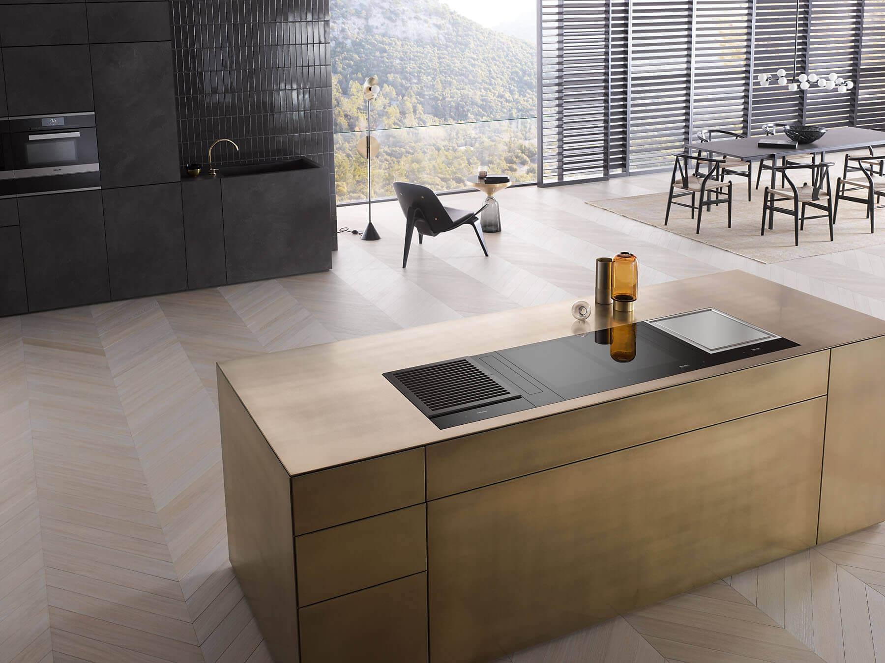 Gouden moderne keuken