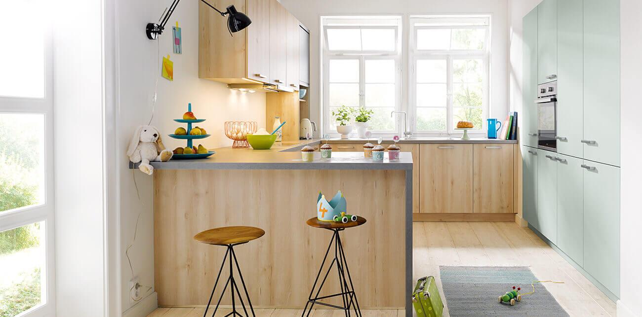 Lichte houtlook keukens