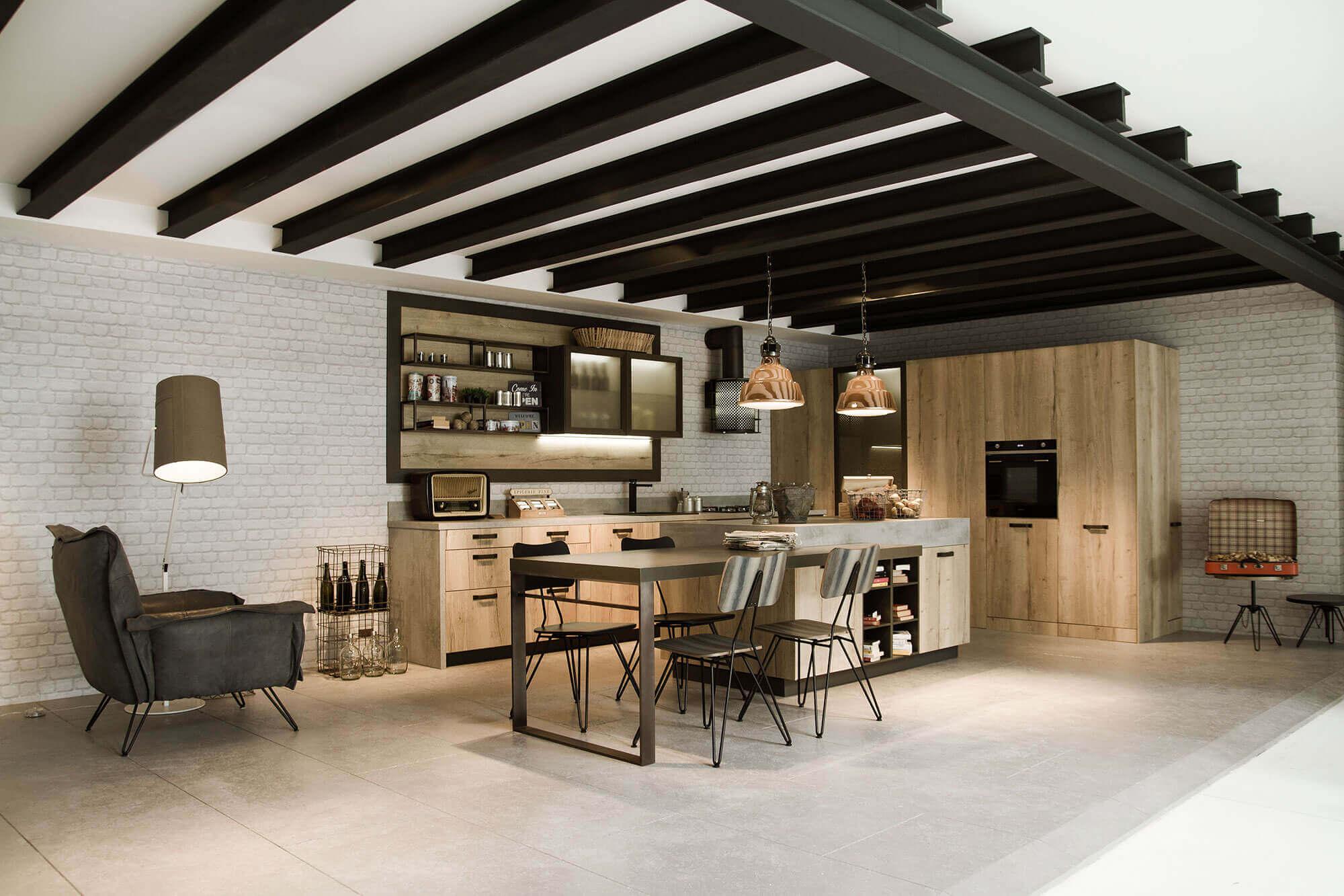 Grote houten keukens