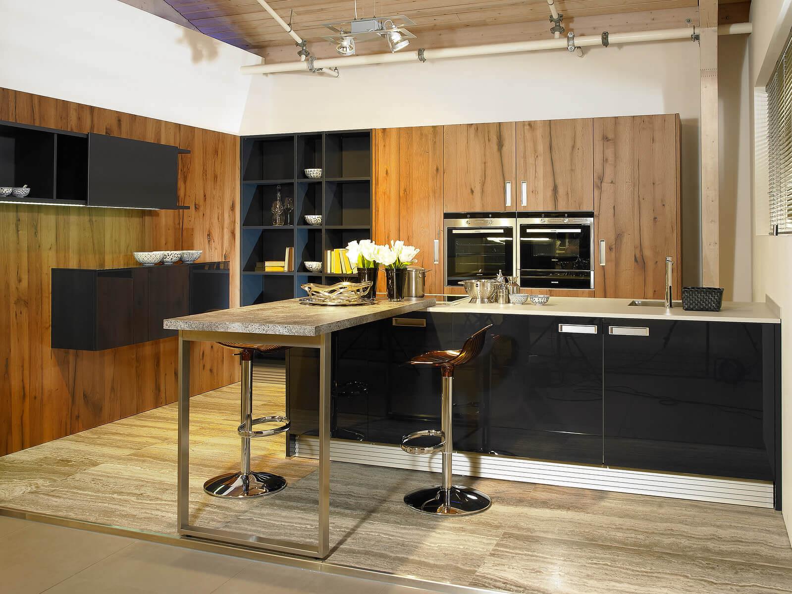 Hoogglans keuken Next125 indigo blauw
