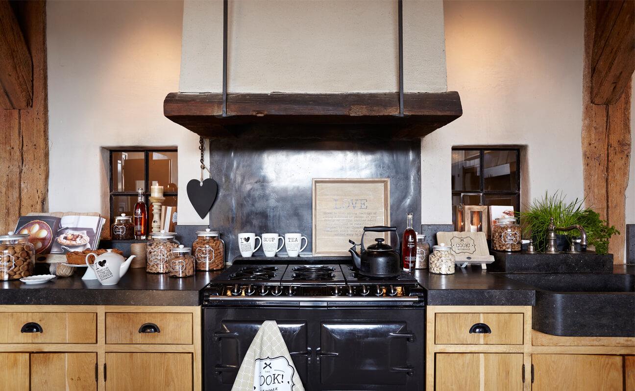Steigerhout in de keuken