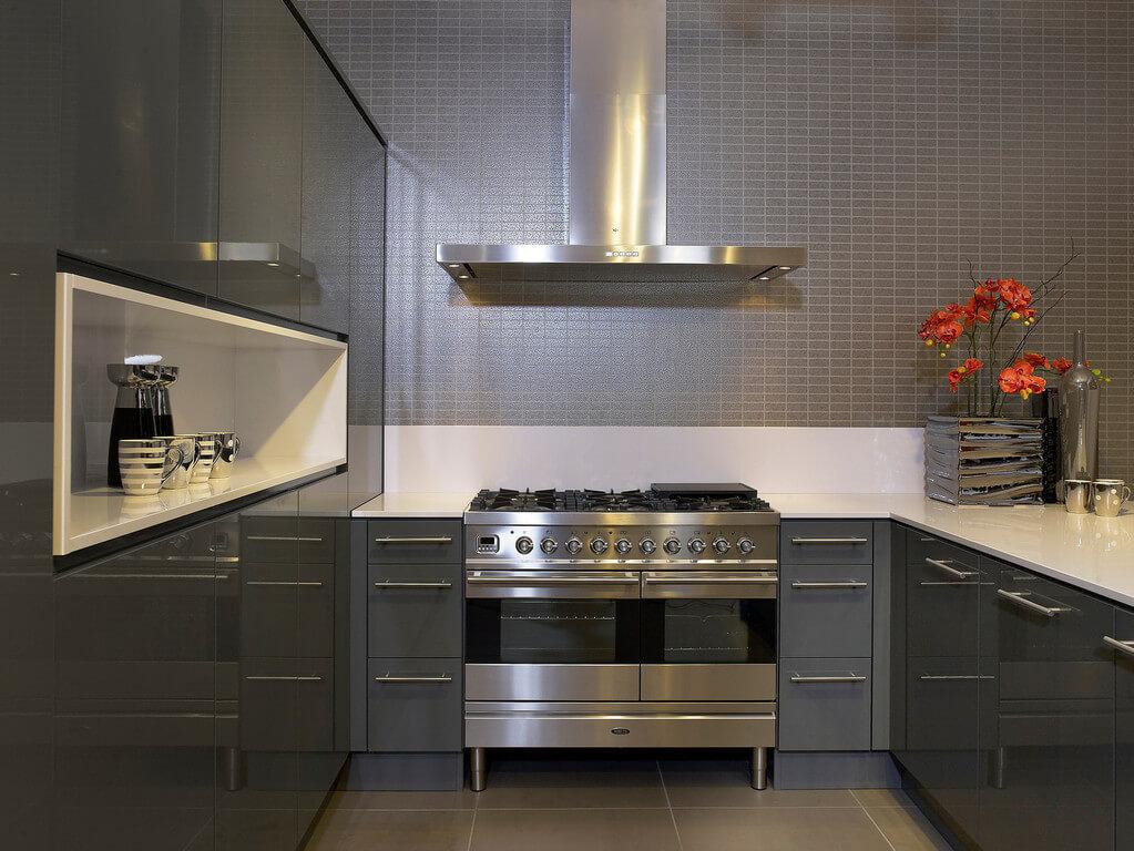 Mooie achterwand in de keuken