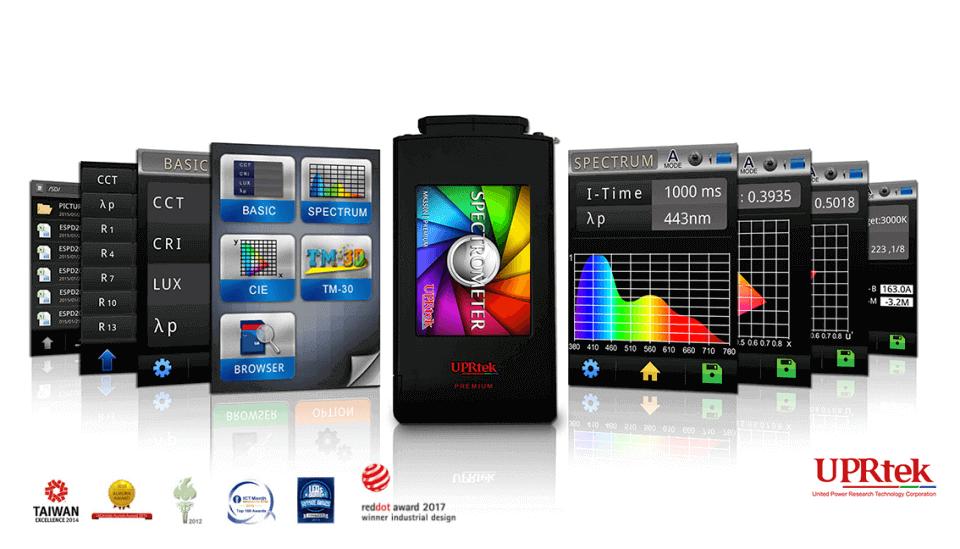 UPRtek Lichtmeters voor kleurtemperatuur, lichtsterkte en kwaliteit van verlichting te meten